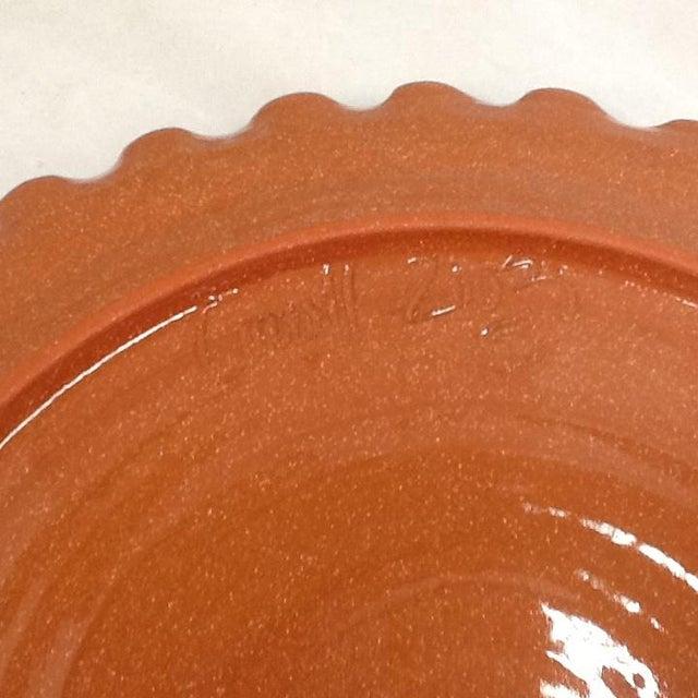 Handmade Pottery Tray. Signed Pottery Tray. Vintage Pottery Plate. Chicken-Imagery Pottery Tray - Image 4 of 5