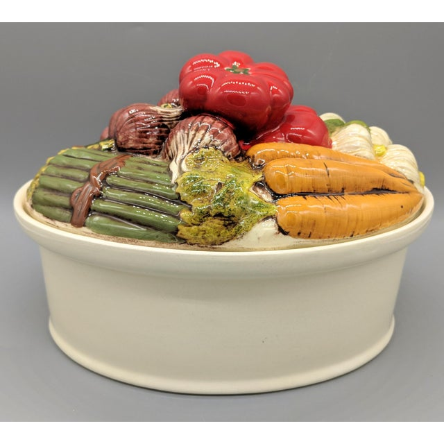 Late 20th Century Trompe l'Oeil Vegetable Casserole Serving Dish For Sale - Image 9 of 9