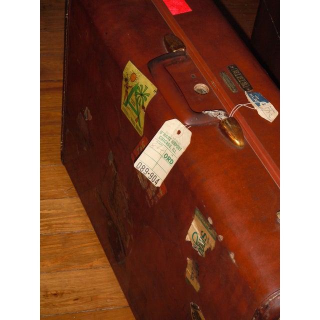 Vintage Samsonite Leather Suitcase - Image 3 of 8
