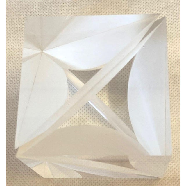 1970s Italian Alessio Tasca Lucite Cube For Sale In Tampa - Image 6 of 13