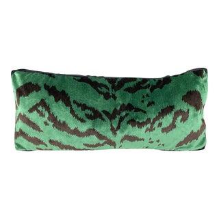 Bevelaqua Green Tiger Stripe Pillow For Sale