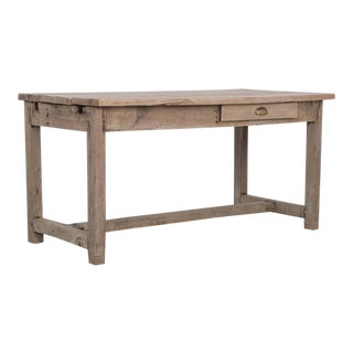 19th Century French Bleached Oak Table For Sale