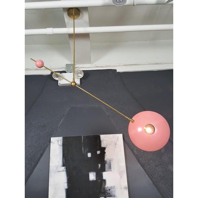 "Blueprint Lighting ""Counterpoint"" Brass & Enamel Pendant *Custom Colors* - Image 6 of 8"