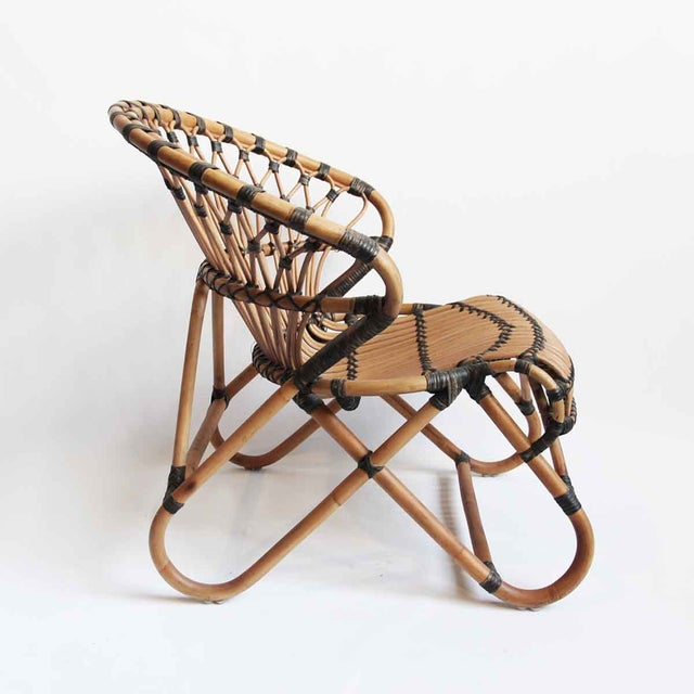 Bamboo & Rattan Side Chair - Image 3 of 3