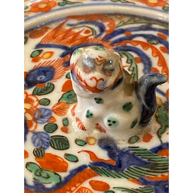 Ceramic Wanli Wucai Chinese Export Lidded Box For Sale - Image 7 of 12