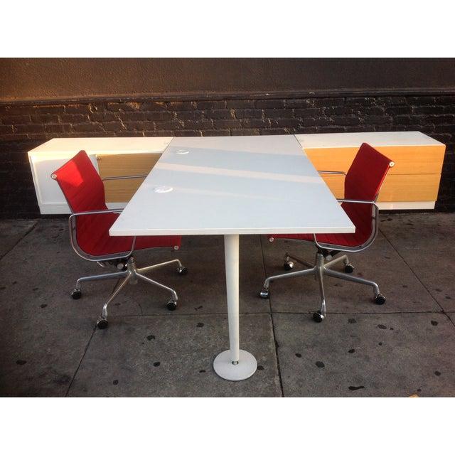 White Vitra Level 34 Modular Office Desk For Sale - Image 8 of 9