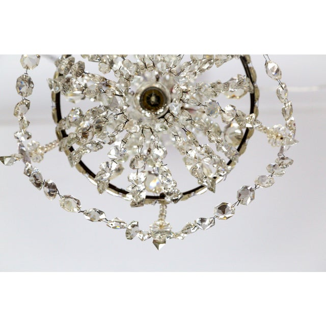 Delicate Crystal & Wire French Regency Tent Chandelier For Sale In San Francisco - Image 6 of 13