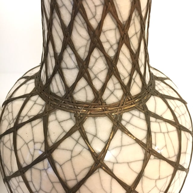Japanese Pottery Vases With Brass Details - A Pair - Image 7 of 9
