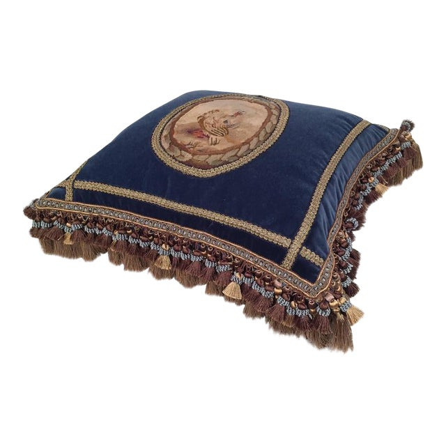 French 18th Century Aubusson Tapestry Pillow For Sale