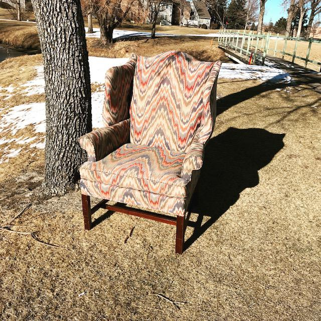This is a traditional chair from Sherrill furniture with flame stitch pattern. The chair is in good shape there are some...