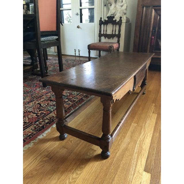 Antique French Henry II Style Walnut Low Boy Coffee Table For Sale In Minneapolis - Image 6 of 13