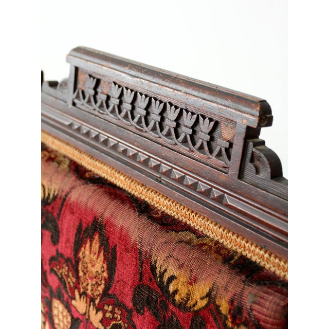 Antique Upholstered Arm Chair For Sale - Image 6 of 11