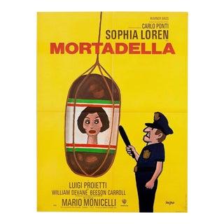 "Vintage 1972 French Sophia Loren 'Mortadella' 23""x31"" Film Poster"