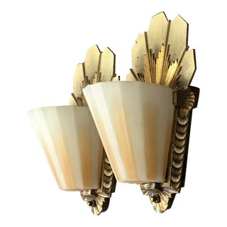 Antique Art Deco Original Finish Wall Sconces by Beardslee-Williamson For Sale