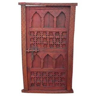 1970s Vintage Moroccan Burgundy Door For Sale