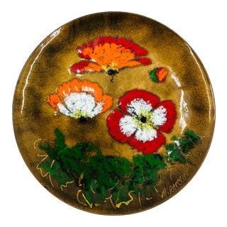 Vintage Hand Made Enameled Dish For Sale