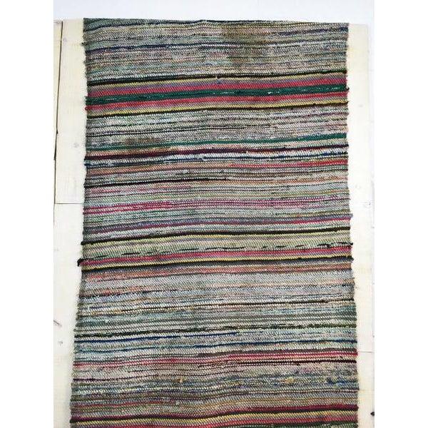 Antique Hand Woven Turkish Kilim Runner Rug - 3′4″ × 9′8″ - Image 4 of 6