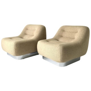 Pair of m.f. Harty Tomorrow Lounge Chairs for Stow Davis For Sale