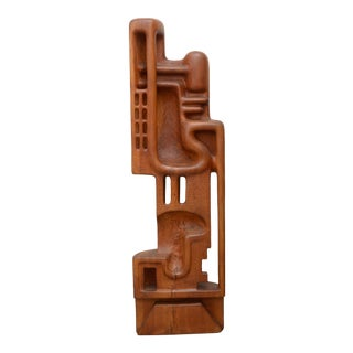 Henryk Burzec Abstract Wood Sculpture For Sale