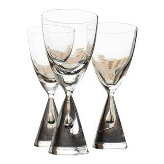 """Vintage Holmegaard """"Princess"""" Danish Akvavit/Shot Glasses- Set of 3 For Sale"""