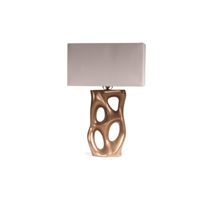Not Yet Made - Made To Order Amorph Loop Table Lamp - Gold For Sale - Image 5 of 8