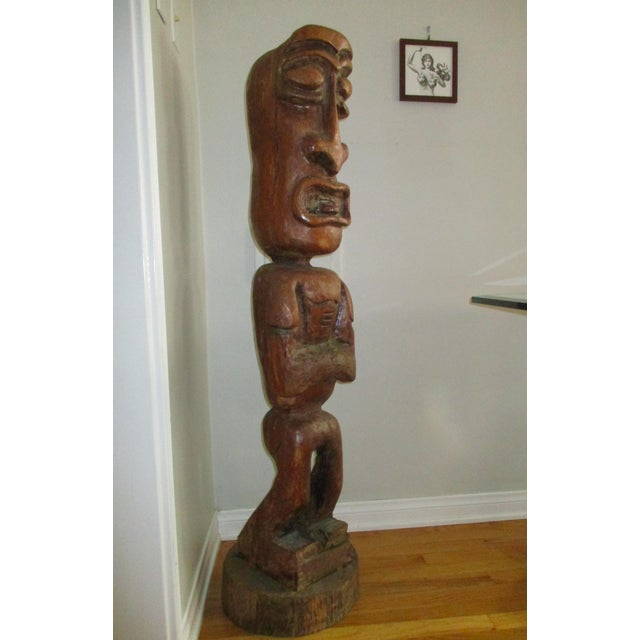 Carved Tiki Garden Statue - Image 3 of 7