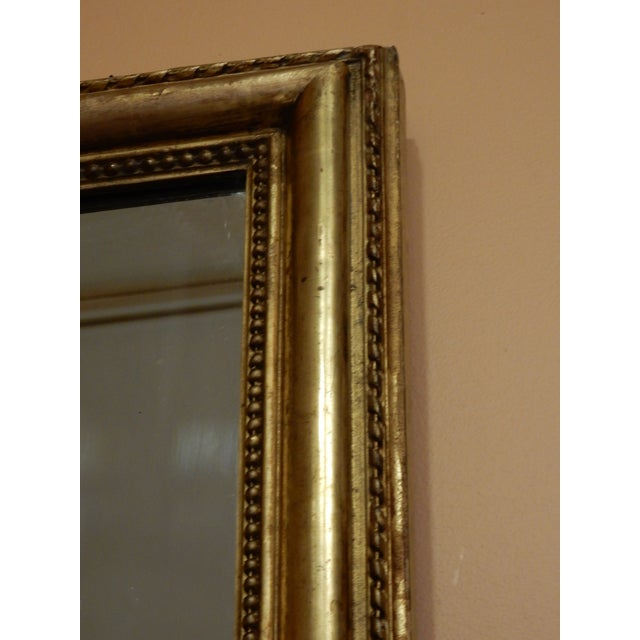 Very good gold gilt 19th century rectangular mirror. Can work with a contemporary or traditional decor.