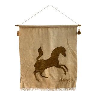 Mid-Century Horse Tapestry Wall Art