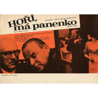 The Firemen's Ball 1967 Czech A4 Mini Film Poster For Sale