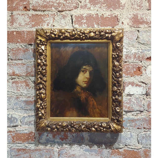German School-Portrait of a Good-Looking Man-Oil Painting-C1900s For Sale - Image 10 of 10