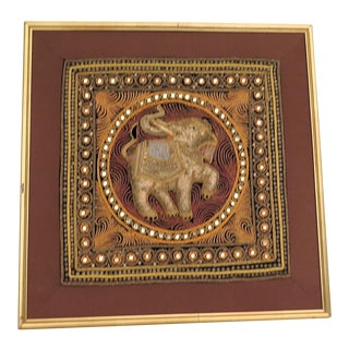 Indonesian Hand Crafted Elephant Embroidery