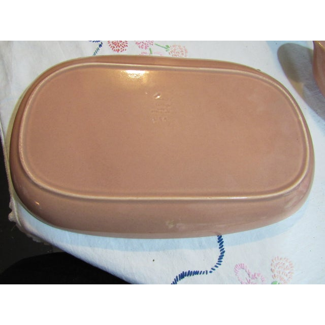 Vintage Russel Wright Coral Pink Gravy Boat & Platter Coral - 2 Pieces For Sale In New Orleans - Image 6 of 13