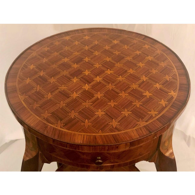 Traditional Antique Exceptional Inlaid Parquetry Table, Circa 1860-1870. For Sale - Image 3 of 5