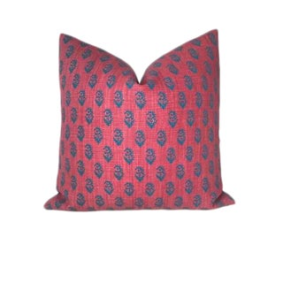 Red & Blue Rajmata Pillow Cover