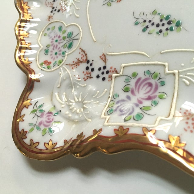 Hand Painted Embossed Ornate Dresser Tray - Image 6 of 8