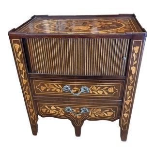 English Marquetry Commode For Sale