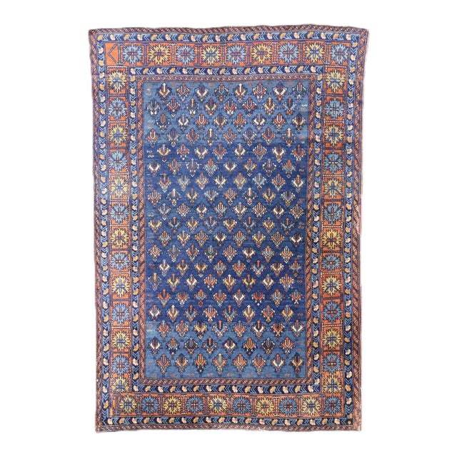 Antique Yerevan Rug with Modern Tribal Style, Antique Russian Armenian Rug For Sale
