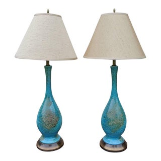 Ceramic Glazed Table Lamps For Sale