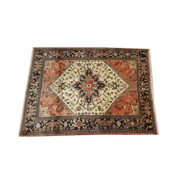 "Persian Heriz Area Rug - 6'7"" x 4'11 - Image 1 of 3"