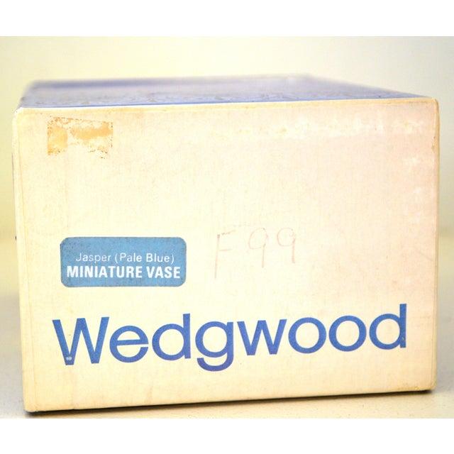 Antique Wedgwood Jasperware Blue & White Urn Vase England Miniature For Sale - Image 11 of 11