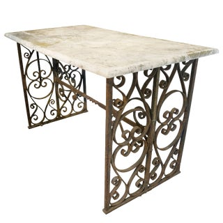 19th Century French Marble-Top Console Table For Sale