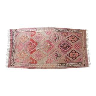 """Pink Kilim Flat Weave Rug- 5' x 9'4"""""""