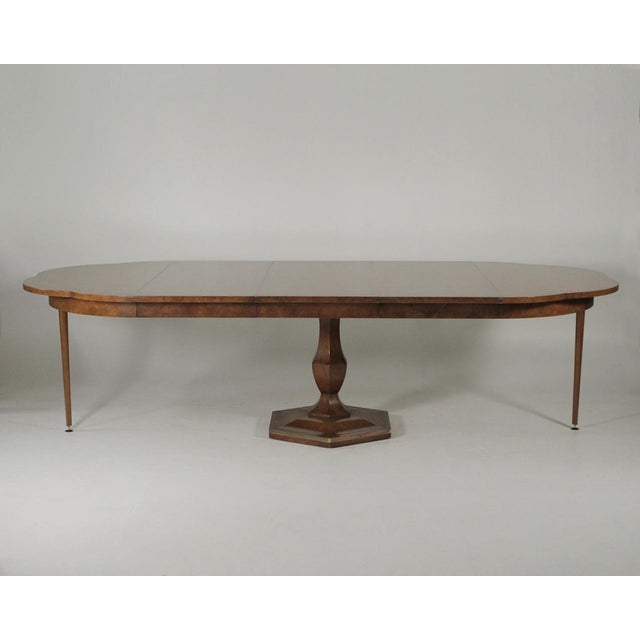 Mastercraft Burl Elm Extension Dining Room Table With Three 20\