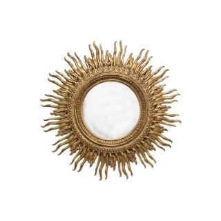 Monumental Vintage Carved Sunburst Mirror