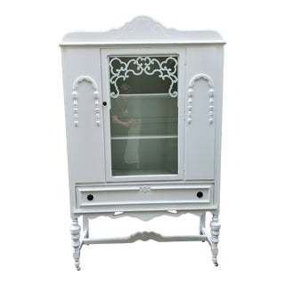 Antique Ornate China Cabinet For Sale
