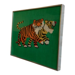 Mid Century Modern Tigers Wall Hanging / Art / Picture For Sale