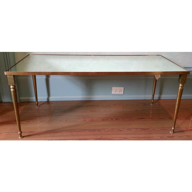 Maison Jansen 1960's Pair of Jansen Brass Coffee Tables For Sale - Image 4 of 10