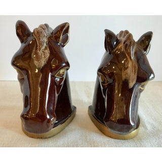 Vintage Ceramic Hand Painted Thames Horse Bookends - A Pair Preview