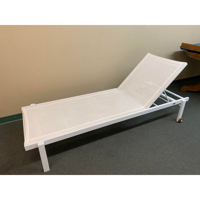 Contemporary Mamagreen Allux White Outdoor Lounger For Sale - Image 3 of 13