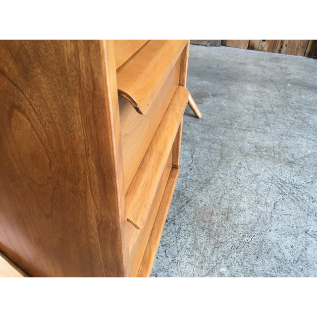 1950's Maple X-Leg Desk With Bookcase For Sale - Image 9 of 13